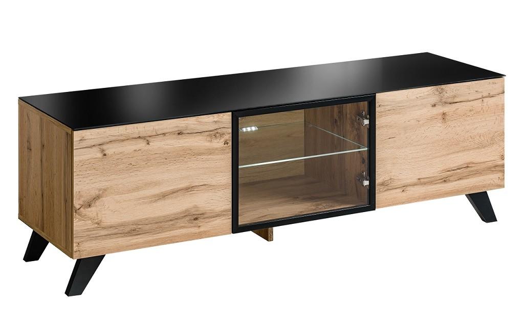 TV, Hifi stolek  - dřevěný TV stolek Orches (dub wotan)