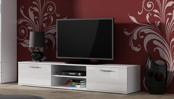 TV, Hifi stolek  - dřevěný TV stolek Soho