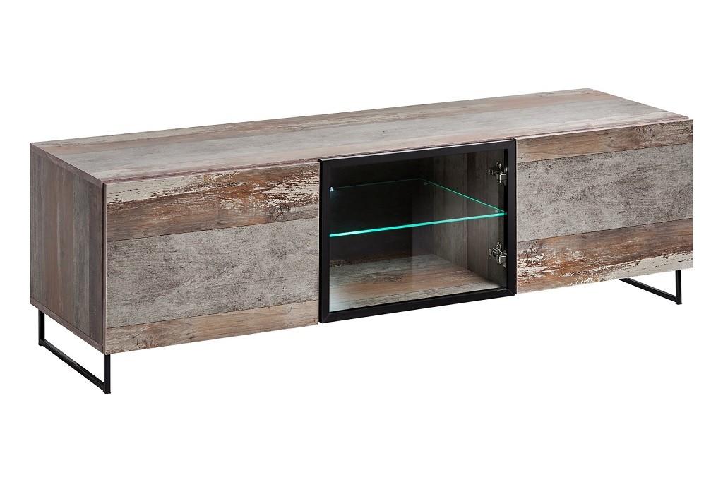 TV, Hifi stolek  - dřevěný TV stolek Tandre (canion wood)