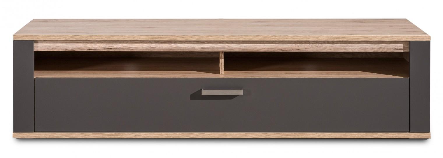 TV, Hifi stolek  - dřevěný Varino Typ 32 (san remo sand LDTD/grafit matná MDF)