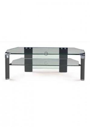 TV, Hifi stolek - skleněný AUTRONIC IDAHO BK