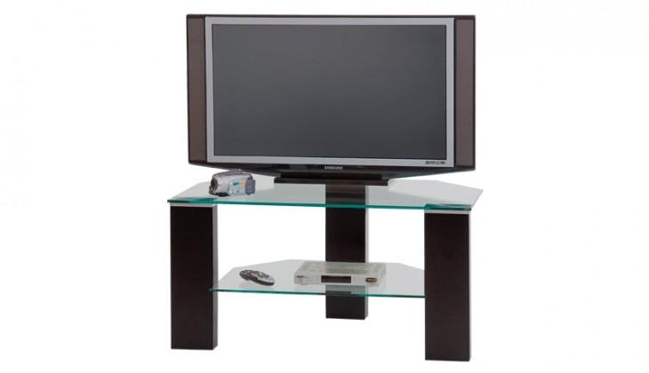 TV, Hifi stolek - skleněný RTV-1 (Wenge/sklo)