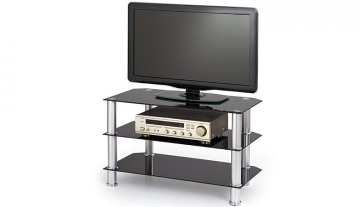 TV, Hifi stolek - skleněný RTV-21 (Černá)