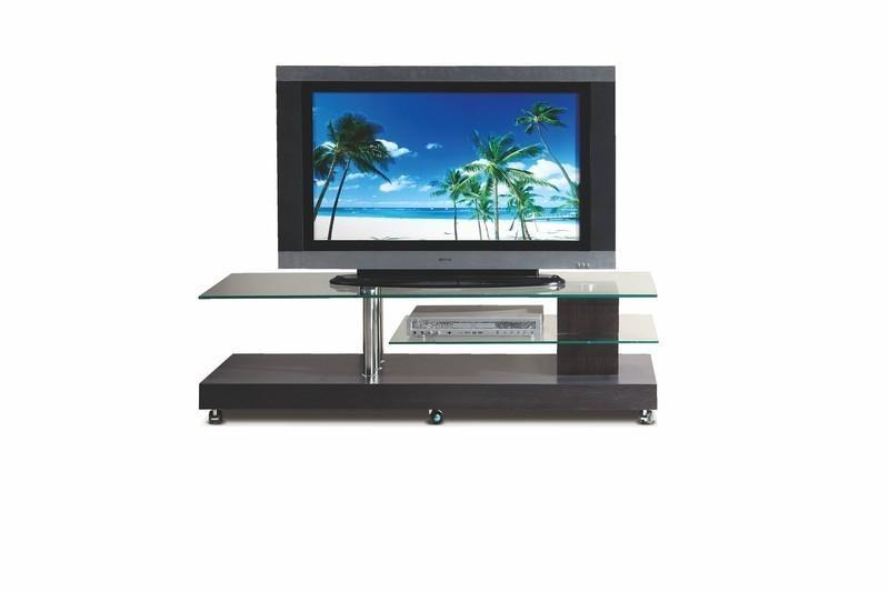 TV, Hifi stolek - skleněný RTV-7 BIS (Sklo/Wenge)