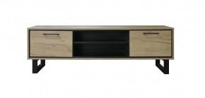 TV stolek Brick (dub, černá)