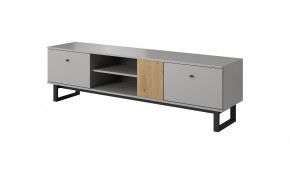 TV stolek Dione (dub artisan, šedá)
