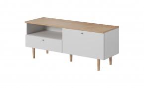 TV stolek Loveli (buk pískový, bílá)