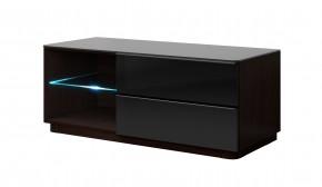 TV stolek Togo - 120 cm (wenge/černý lesk))