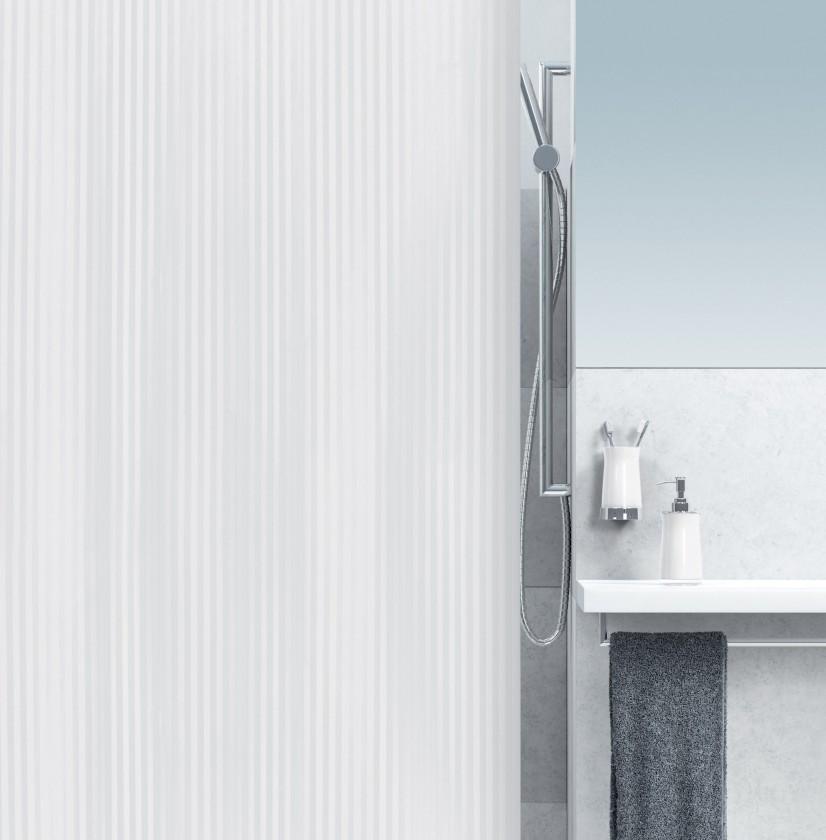 Twill-Sprchový závěs 180x200 cm(bílá)