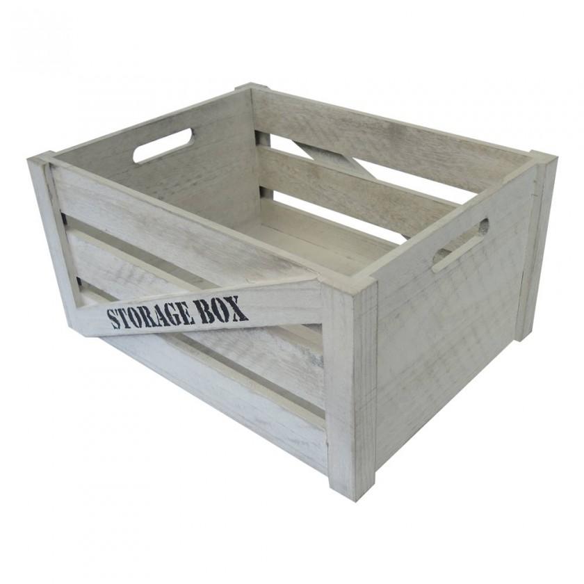 Ukládací boxy Dřevěná bedna KR05