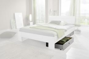 Úložný prostor k posteli Nightlight (bílá, křišťálové kamínky)