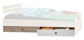 Úložný prostor pod postel Game (bílá, dub)