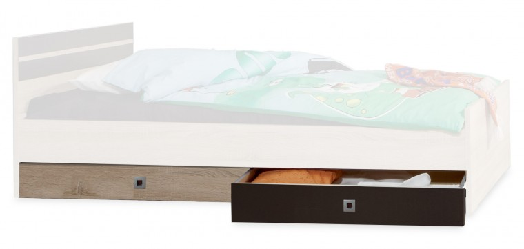 Úložný prostor pod postel Game (dub, černá)
