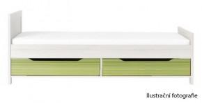 Úložný prostor pod postel Monza - CD 16 (višeň cornvall/zelená)