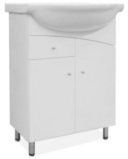 Union - Skříňka s umyvadlem 65 cm (bílá vysoký lesk)