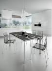Universe 110 - Jídelní stůl (šedá břidlice, hliník)