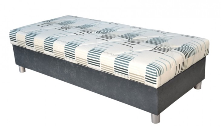 Válendy Válenda George 90x200, šedá, vč. matrace a úp