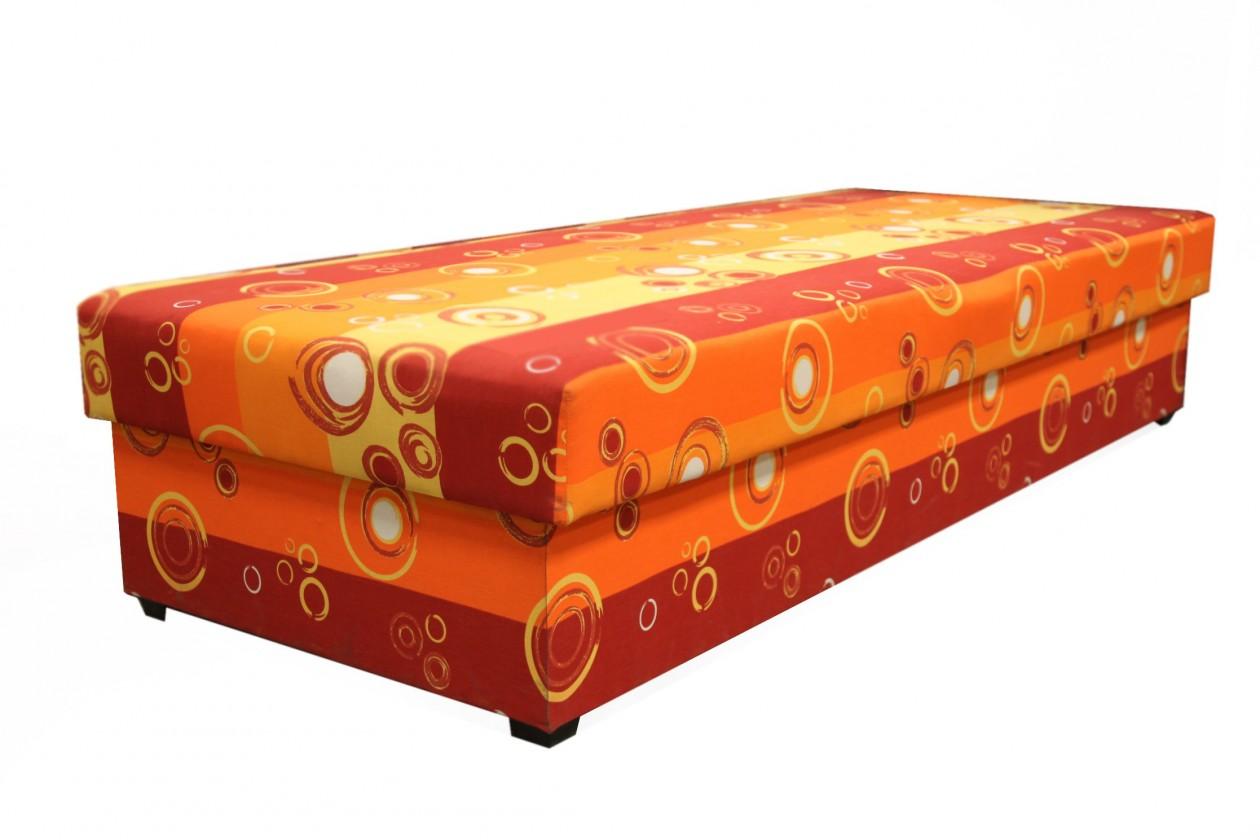 Válendy Válenda Iveta 80x200, oranžová, vč. matrace a úp
