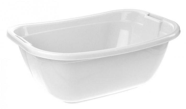 Vanička oválná, 55x40x22 cm, 22l, plast (bílá)