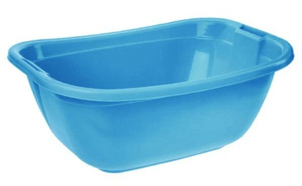 Vanička oválná, 55x40x22 cm, 22l, plast (modrá)