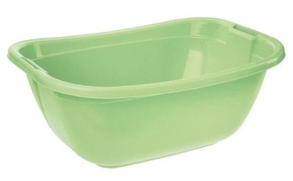 Vanička oválná, 55x40x22 cm, 22l, plast (zelená)