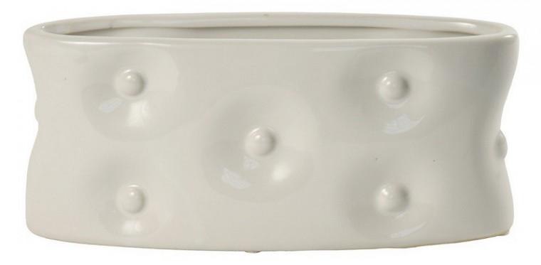 Váza keramická - 13,5 cm (keramika, bílá)