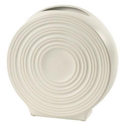 Váza keramická - 20,5 cm (keramika, bílá)