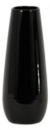 Váza keramická - 30 cm (keramika, černá)
