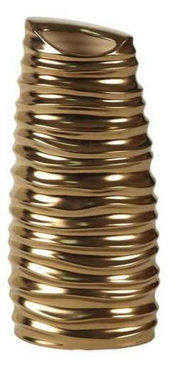 Váza keramická - 30 cm (keramika, zlatá)
