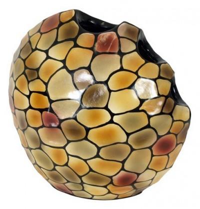 Váza keramická - 34 cm (keramika, mix barev)