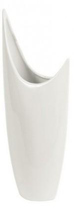 Váza keramická - 40,5 cm (keramika, bílá)