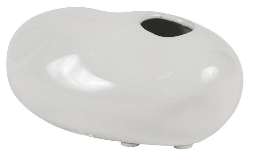 Váza keramická - 6,5 cm (keramika, bílá)