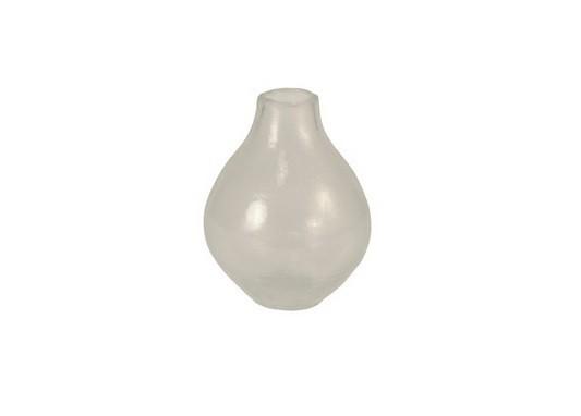 Váza skleněná - 18 cm (sklo, mléčná)