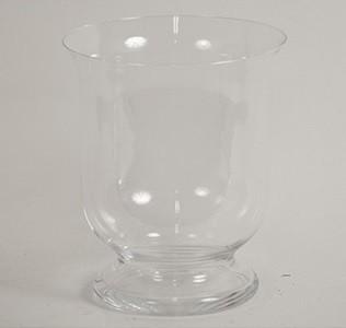 Váza skleněná - 22 cm (sklo, čirá)