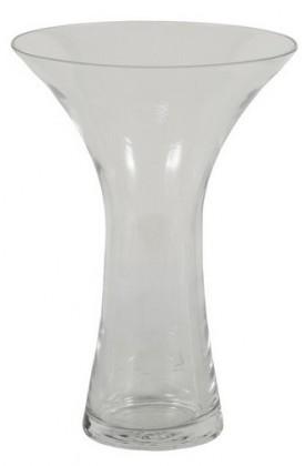 Váza skleněná - 28 cm (sklo, čirá)