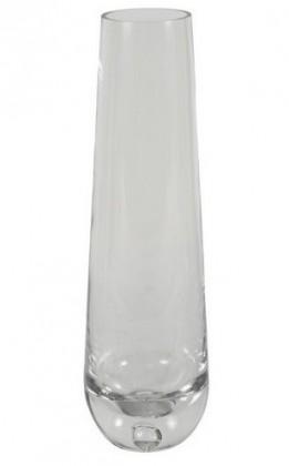 Váza skleněná - 30 cm, oválná (sklo, čirá)