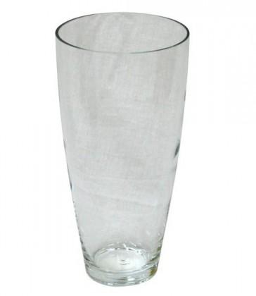 Váza skleněná transparentní,V tvar (transparentní)