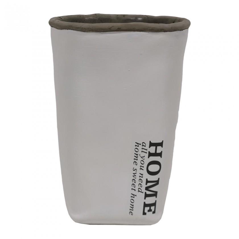 Vázy Cementová váza CV04 bílá (20 cm)