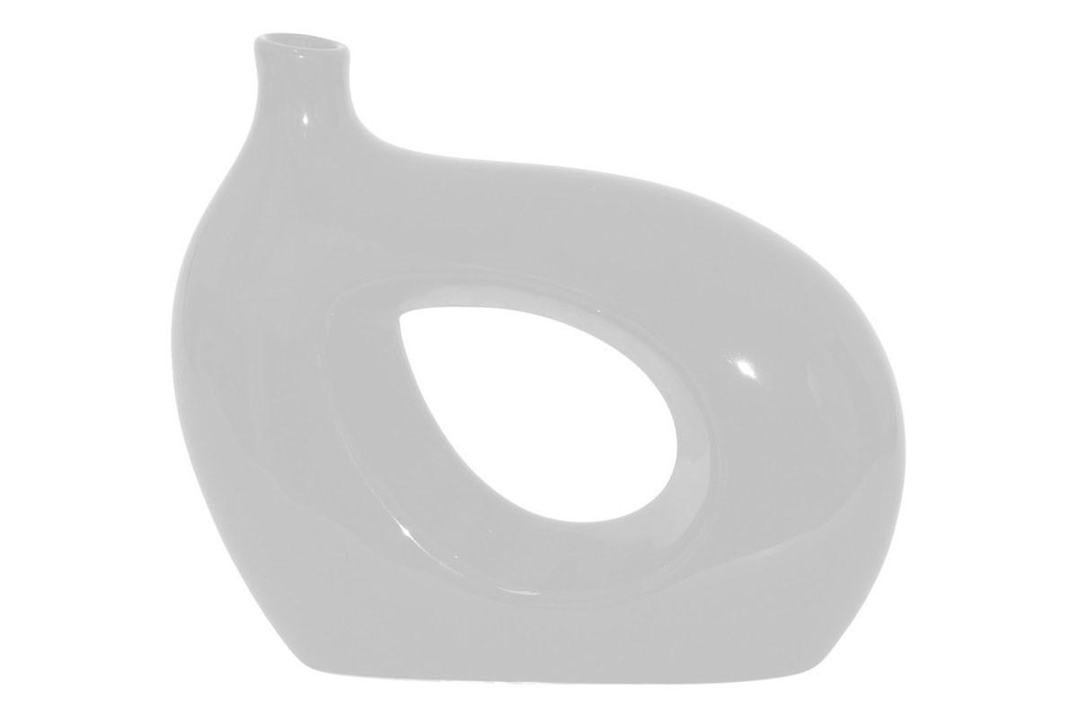 Vázy Keramická váza VK03 (bílá, 25 cm)