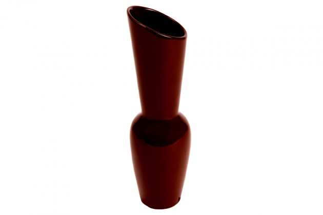 Vázy Keramická váza VK11 (hnědá, 26,5 cm)