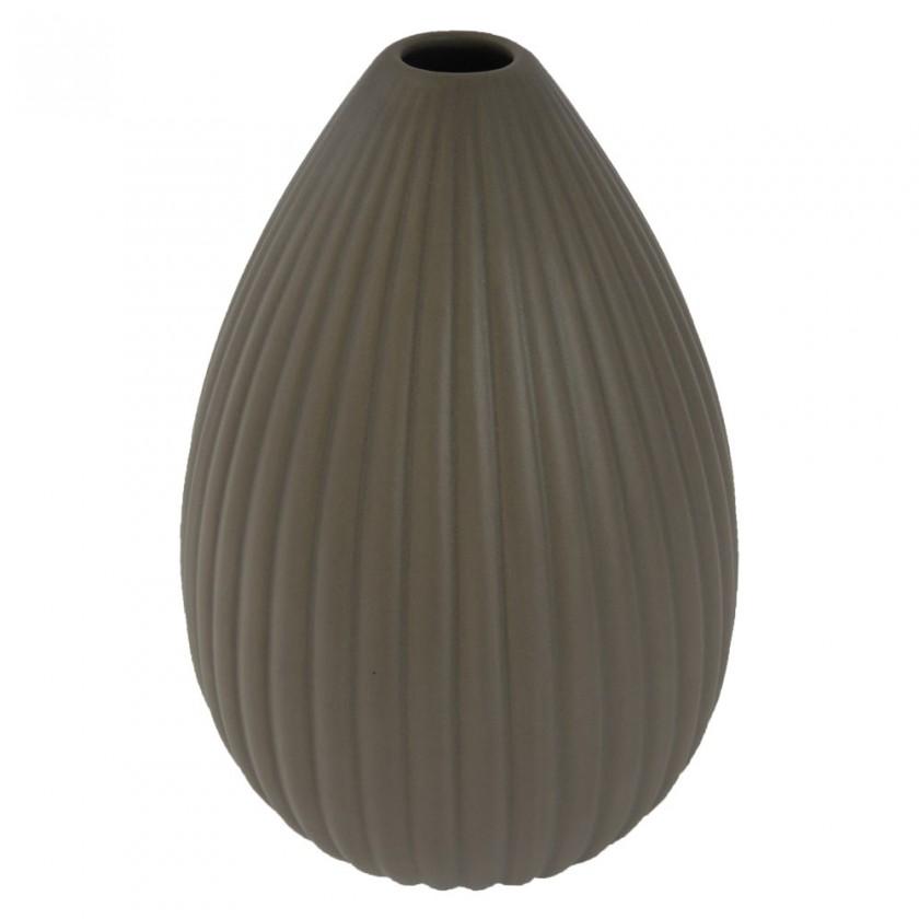 Vázy Keramická váza VK36 hnědá matná (25 cm)