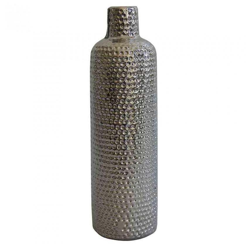 Vázy Keramická váza VK56 stříbrná (30 cm)