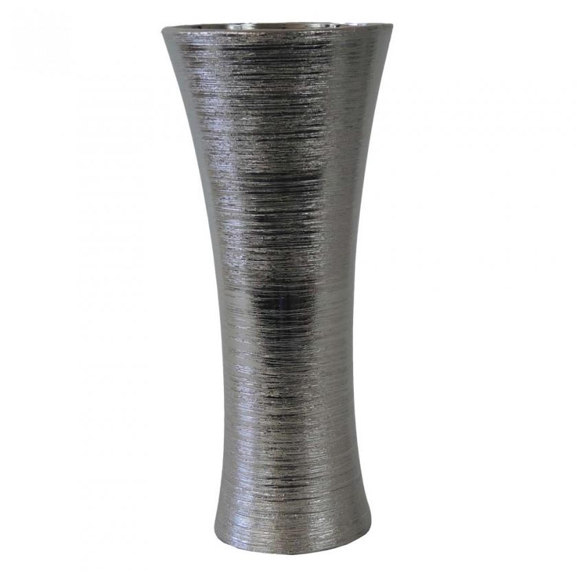 Vázy Keramická váza VK64 stříbrná (35 cm)