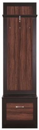 Věšák Boise - Skříňka s věšákem (olivka/dub maggic)