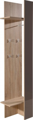 Věšák GW-Perla - věšákový panel (dub sonoma-korpus / grafit-front)