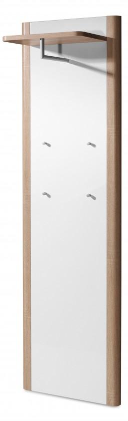 Věšák GW-Ronda - Věšákový panel (dub sonoma/bílá)