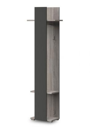 Věšák PACIFIK Typ 78(dub bardolino/grafit vysoký lesk)