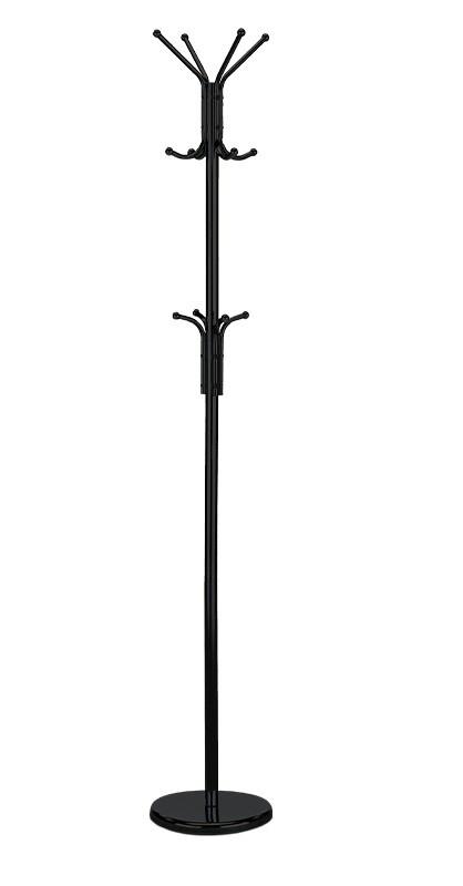 Věšák Stojanový věšák - SV 08, 180 cm (černá, kov)