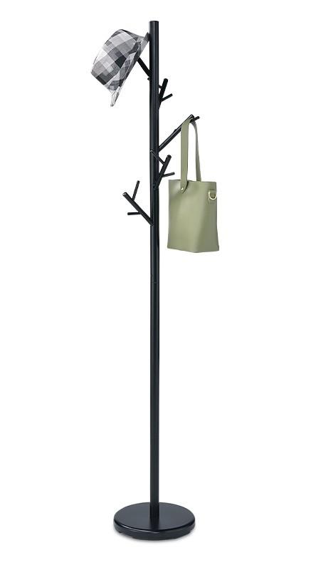 Věšák Stojanový věšák - SV 10, 170 cm (černá, kov)