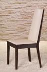 Vicente - Jídelní židle (wenge/eko kůže krémová)